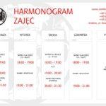 Harmonogram zajęć sambo 2019/2020 r.